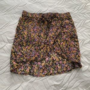 H&M floral wrap mini skirt